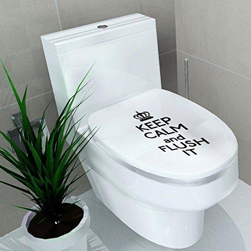 Ducomi® adesivi decorativi per copriwater per adulti e bambini, ideale per seduta wc di misura standard (keep calm)
