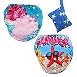 Lictin Schwimmwindel Baby 2-teilig Baby Schwimmhose Baby Badewindelhose Schwimmwindel junge für Kleinkinder 0-3...