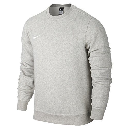 Nike Herren Sweatshirt Team Club Crew, Grau(Grey Heather/football White), L