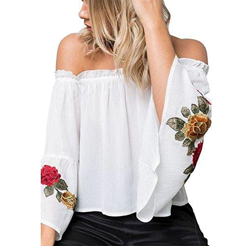 Aelegant - T-shirt de sport - Femme Weiß
