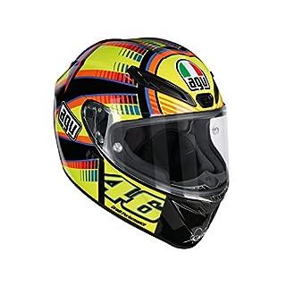 AGV Motorradhelm Veloce S E2205 Top PLK, Soleluna Gelb, Größe L