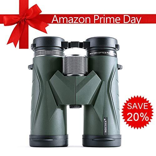 NOCOEX Binoculares 10x42 para Adultos, Prismáticos Profesionales HD Compactos para Observación de Aves, Viajes, Observación de Estrellas, Camping, Conciertos, Visitas Turísticas