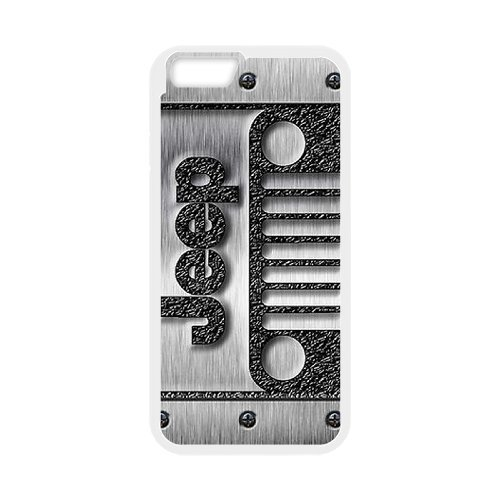 iPhone 6/6S 4.7 Inch white Phone Case Top Design Jeep Wrangler Logo JP299341