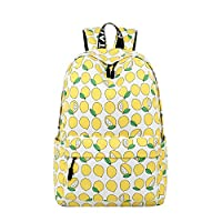 Adanina College Fresh Wind Small Floral Printed Backpack Senior Middle High School Bag Book Bag for Teens Girls