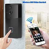 Zunate WiFi Video Türklingel, DoorBell 720P HD WiFi Überwachungskamera in 32G Speicher, mit 6 IR-LEDs und P2P-Funktechnologie, Echtzeit-Video, Nachtsicht, PIR Bewegungserkennung