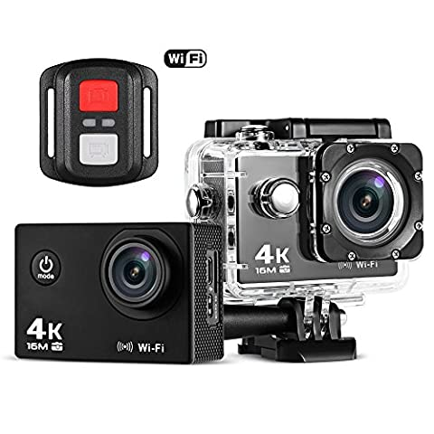 SKM Ultra HD 1080P 4K / 30fps 30M Wasserdicht WiFi Action Sport Kamera Videokamera (Transparent)