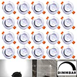 Hengda Blanc Dimmable 3W Spots Encastrables Projecteur de plafond LED Projecteur...