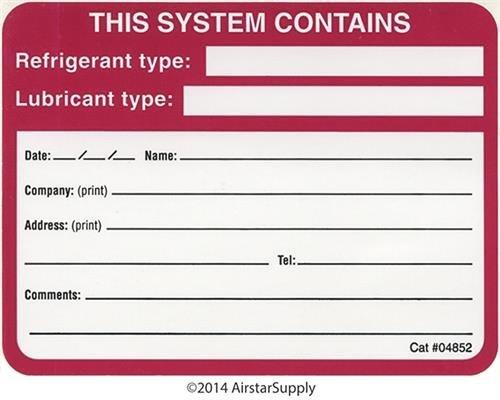 diversitech-system-refrigerant-oil-labels-label-04852-by-diversitech