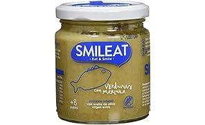 Smileat, Tarrito de pescado para bebé, (Verduras con merluza) - 230 gr.