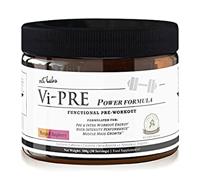 Vi-Pre Power Workout Enhancer. Pre Workout Supplement and Muscle Builder for Pre & Intra Workout Energy + High-Intensity Performance. Contains Creatine, L Arginine, Beta Alanine, L Tyrosine. from RCT Labs
