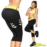Bliss Hot Sweating Body Shapers Pant Capri Slimming Belt Hot Thermo Sweat Shapers Slimming Capri Pant Sauna Waist Cincher Girdle For Weight Loss Perfect Thigh Shaper For Women & Men (XXXXL)