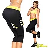 BLISS Women & Men's Sweating Body Shapers Capri Pant with Slimming Sauna Waist Cincher Girdle for Weight Loss Perfect Thigh Shaper, XL