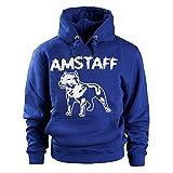 Amstaff Logo Herren Kapuzen Pullover Sweater Verschiedene Modelle Logo Hoodie blau M