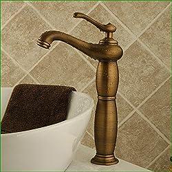 Srinivalei Waschtischarmatur Wasserhahn Armatur wasserfall für Badezimmer Alle Kupfer antik Armaturen Waschbecken Waschbecken Wasserhahn antike Teekanne von heiß und kalt - Wasseranschluß