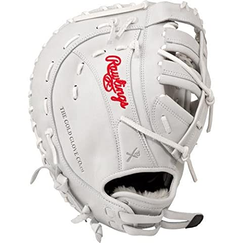 Rawlings Women's Liberty Advanced 13in 1st Base Softball Mitt RH, White First Base Mitt, 13