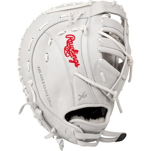 Rawlings Liberty Advanced Softball Handschuh Series, damen, RLAFB-3/0, White First Base Mitt, 33 cm -