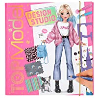 Depesche 10633 Colouring Book Create your TOPModel Design Studio, ca. 26 x 25 x 2.5 cm