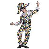 Widmaan Costume Carnevale Bimbo Travestimento Arlecchino *19742-8/10 Anni