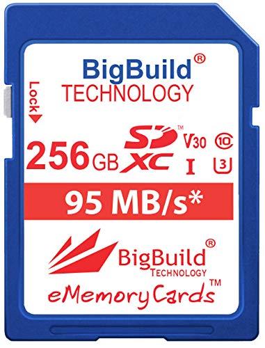 BigBuild Technology 256GB UHS-I U3 95MB/s Speicherkarte für Leica M P Typ 240, M10, M10 D, M10 P, Q P, Q Snow, Q Typ 116, Sofort Kamera
