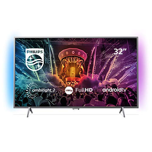 Philips Ambilight 32PFS6402/12 Fernseher 80 cm (32 Zoll) LED Smart TV (Full HD, Pixel Plus HD; Android TV, Triple Tuner, Cloud Gaming) (Tv De 32)