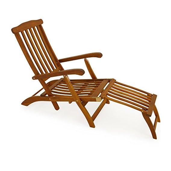 Lettino Sdraio Da Giardino.Ssitg Legno Deck Chair Sedia A Sdraio Lettino Sdraio Da Giardino