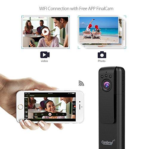 Conbrov IP Espía Cámara 1080P Mini WiFi 92 Spy Cámara Espía Oculta Portátil Interior Detección de Movimiento Cámara de Vigilancia