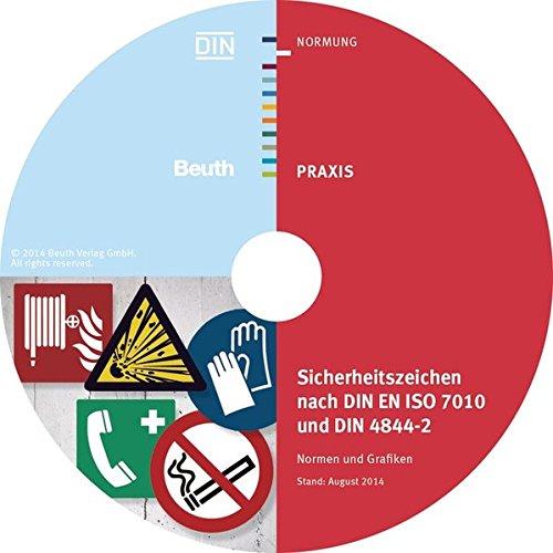 Sicherheitszeichen nach DIN EN ISO 7010 und DIN 4844-2: Normen und Grafiken als TIFF-Dateien und Vektorgrafiken auf CD-ROM; Einzelplatzversion