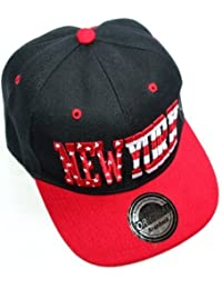 Hip Hop NEW YORK Stars & Stripes Black Red SNAPBACK CAP von OUTLET KING CITY ERA TRUCKER Mütze basecap flexfit yankees