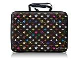 Luxburg® design hardcase sacoche housse rigide pour ordinateur portable 15,6 pouces, motif: LX Modèle noir