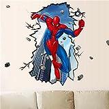 JUNMAONO Spiderman Wandaufkleber/Wandgemälde/Wand Poster/Wandbild Aufkleber/Wandbilder/Wandtattoo/Pinupbild/Beschriftung/Pad einfügen/Tapete/Tapezieren/Tapeten/Wand Zeitung/Wandmalerei/Haftnotiz/Fühlen Sie sich frei zu kleben/Instant Aufkleber/3D-Stereo-Wandaufkleber