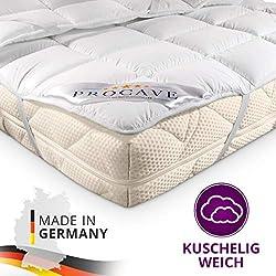 PROCAVE Matratzen-Schoner Micro-Comfort in Verschiedenen Größen, Matratzen-Auflage 100% aus Deutschland, Unterbett Soft-Matratzen-Topper, Matratzenschutz Boxspring-Betten geeignet, Made in Germany 160x200 cm