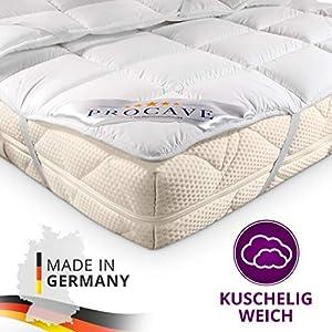 PROCAVE Matratzen-Schoner Micro-Comfort in Verschiedenen Größen, Matratzen-Auflage 100% aus Deutschland, Unterbett Soft-Matratzen-Topper, Matratzenschutz Boxspring-Betten geeignet, Made in Germany 60×120 cm