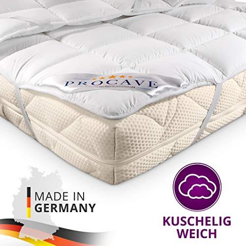 PROCAVE Matratzen-Schoner Micro-Comfort in Verschiedenen Größen, Matratzen-Auflage 100{81494d44449d63f68251b90feaa3f8925ffdde7cb6632c5aa6dee375f6b58cba} aus Deutschland, Unterbett Soft-Matratzen-Topper, Matratzenschutz Boxspring-Betten geeignet, Made in Germany 90x200 cm