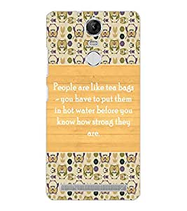 LENOVO K5 NOTE QUOTE Back Cover by PRINTSWAG