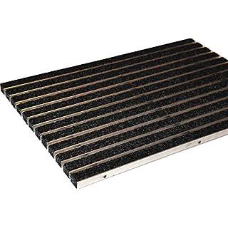 EMCO Eingangsmatte DIPLOMAT Rips anthrazit 22mm ALU Fußmatte Türmatte Schuhabstreifer Abstreifer, Größe:590 x 390 mm