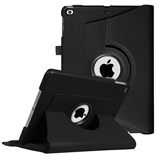 Fintie iPad 9.7 Zoll 2018 2017 / iPad Air Hülle - 360 Grad Rotierend Stand Cover Case Schutzhülle mit Auto Schlaf / Wach Funktion für Apple iPad 9,7'' 2018 2017 / iPad Air 2 / iPad Air, Schwarz