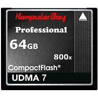 Komputerbay 64GB Professionelle Compact Flash-Karte CF 800X SCHREIBEN 75 MB / s lesen 120MB / s Extreme Speed UDMA 7 RAW 64 GB