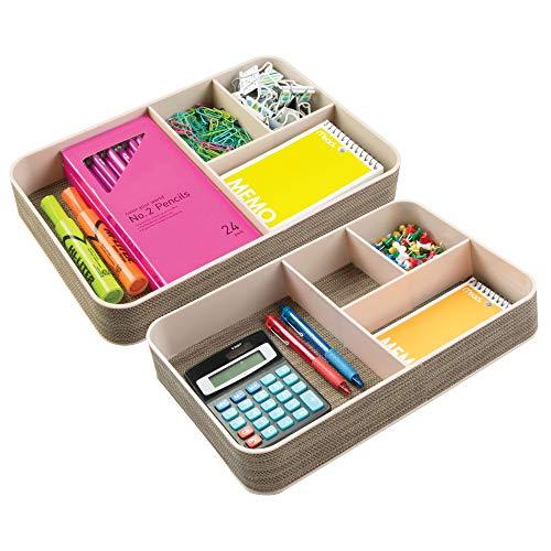 mDesign Schreibtisch Organizer mit 4 Fächern - der ideale Schreibtisch Butler - praktische Fächerbox
