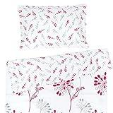 Isabella - Pati'Chou 100% Coton Linge de lit pour bébé (Taie d'oreiller et Housse de couette 120x150 cm)