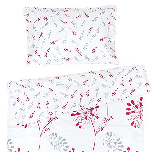 Isabella - Pati'Chou 100% Coton Linge de lit pour bébé (Taie d'oreiller et Housse de couette 80x120 cm)