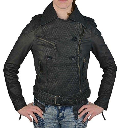 Wrangler Damen Lederjacke schwarz, Größe:S