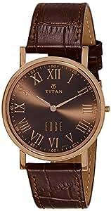 Titan Analog Brown Dial Men's Watch -NK1595WL03