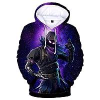 سويتر بغطاء رأس فضفاض مطبوع عليه Fortress Night Digital Game Sweater مقاس 3d من FORTNITE 04