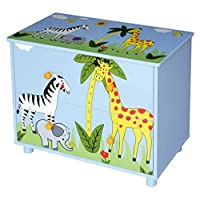 Liberty House Toys Safari Cabinet with Two Drawers, Wood Blue, 60x30x47.6 cm