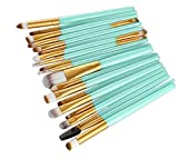 samLIKE 20 Stück Make up Pinsel Set Werkzeuge Make-up Toilettenartikel Wolle Make Up Pinsel Set (Gold)