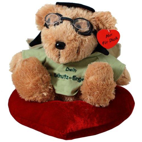 Brubaker angelo custode orso seduto con cuore 32 cm