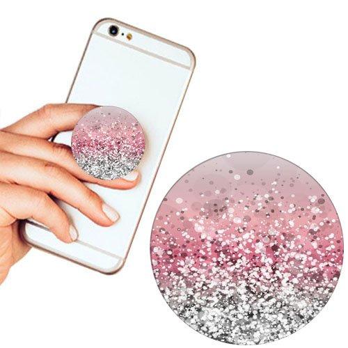 Pop Phone Grip ausziehbarer Ständer Multifunktionaler Smartphone-Halter Universal Telefon Finger hands Socket Halterung - Rosa Marmor (Billig Ipod 3 Fällen)