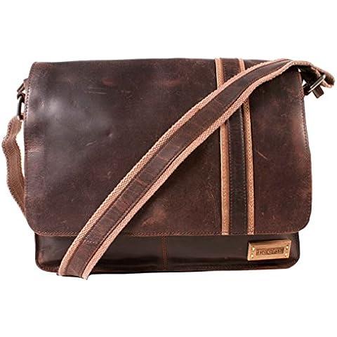 M93063 05 RAY, colore: marrone, 100% pelle, motivo
