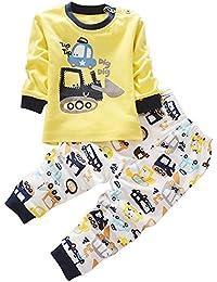 BOZEVON Lindo Animal Impresión Pijamas Set Para Unisexo Niño Minions, ...