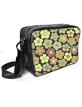 Snoogg nahtlos Blumenmuster Blumen Textur Daisy Leder Unisex Messenger Bag für College Schule täglichen Gebrauch...
